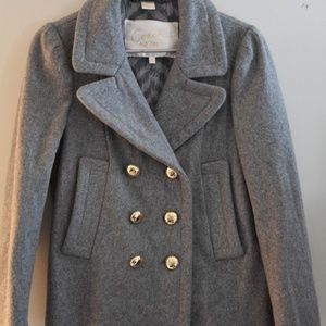 COACH wool blend Peacoat Jacket Small gray S
